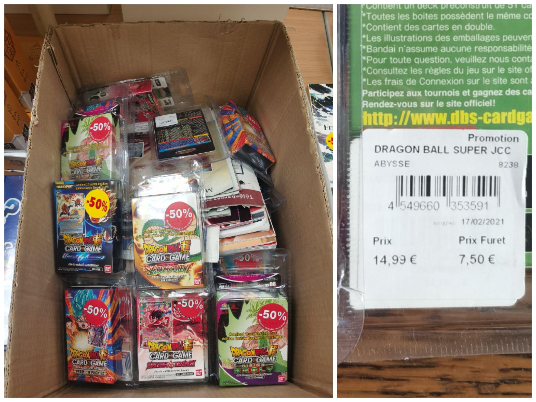 50% de réduction sur une sélection de boosters & decks de cartes Dragon Ball - Ex : Super Starter 8 Broly - Valenciennes (59)