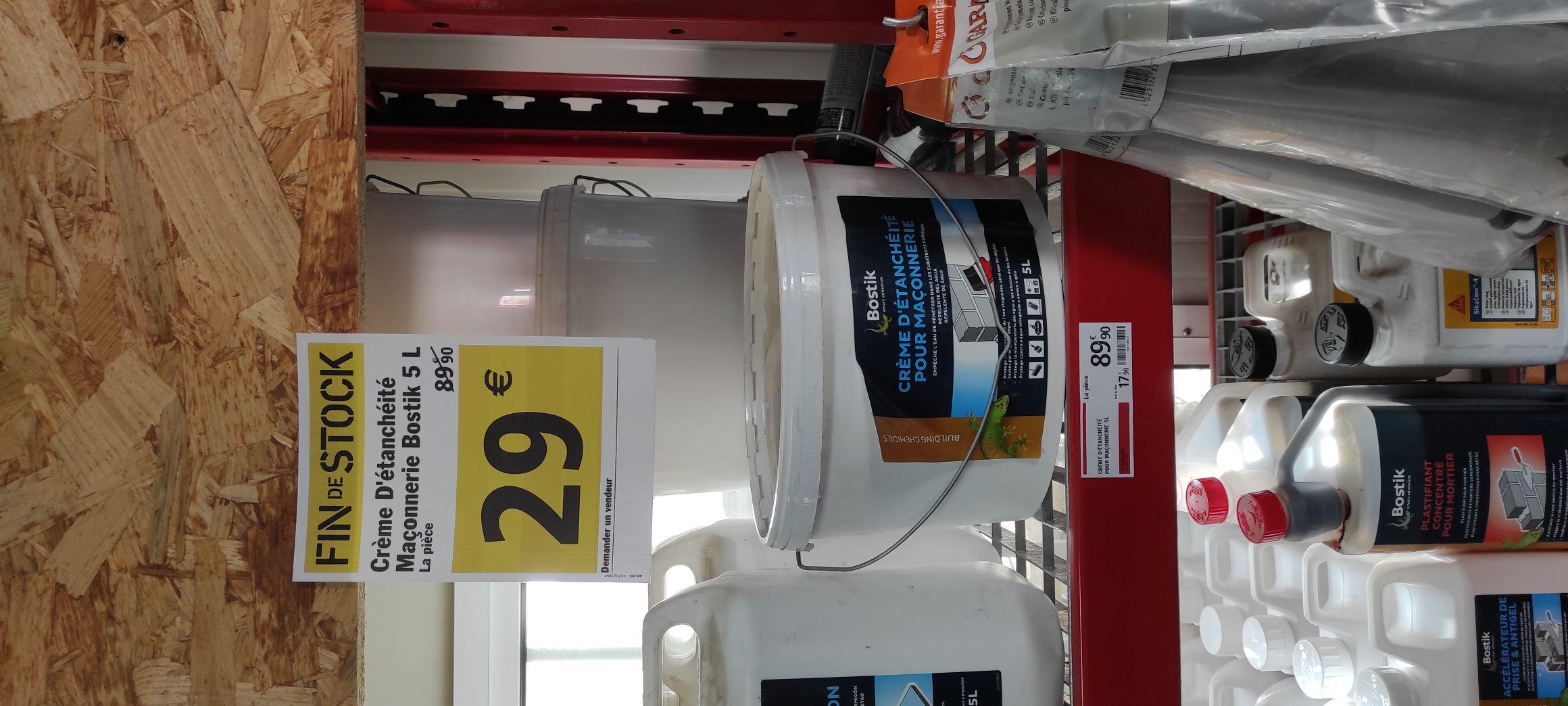 Pot de crème d'étanchéité pour maçonnerie Bostik (5 L) - Colmar (68)