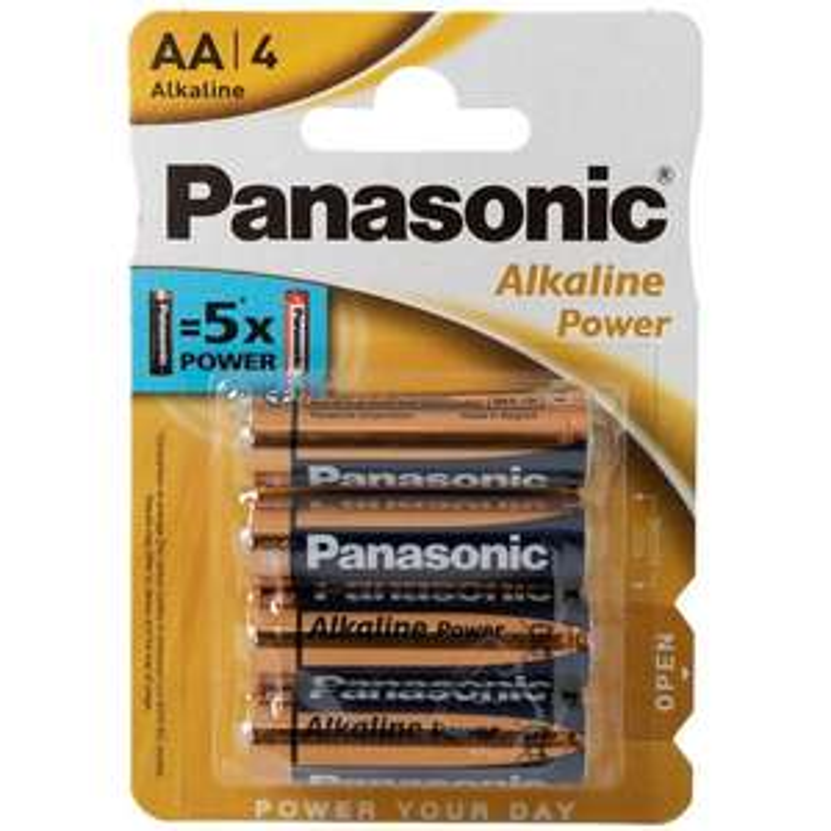 Lot de 4 piles alcalines Panasonic Alkaline Power - AA ou AAA