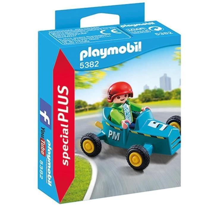 Jouet Playmobil Enfant avec kart (5382)