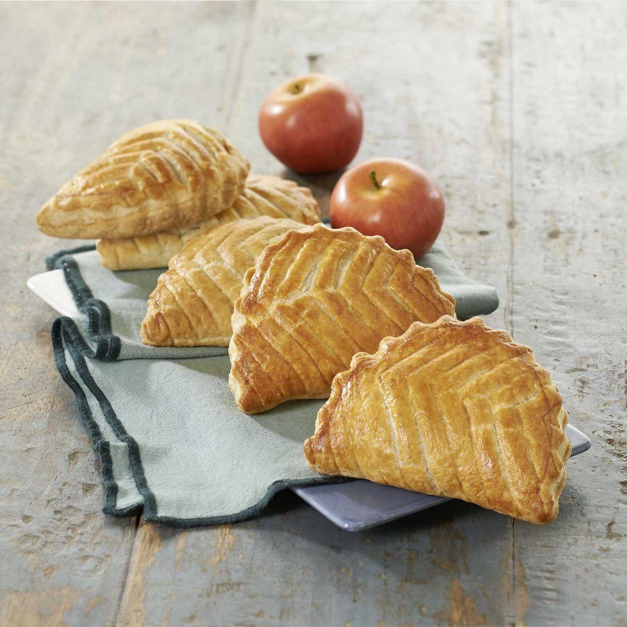 Lot de 4 chaussons aux pommes cuits du jour (360g)