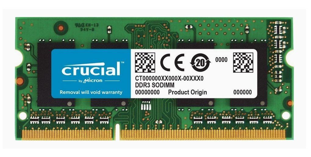 Barette de mémoire RAM Crucial (CT8G3S160BM) - 8Go, SoDimm, DDR3, 1600 Mhz, CL11