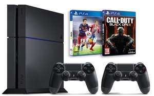 Pack console PS4 1 To + 2ème manette + Call of Duty Black Ops III + Fifa 16