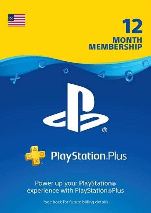 Abonnement de 12 mois au PlayStation Plus (Dématérialisé - Compte US)
