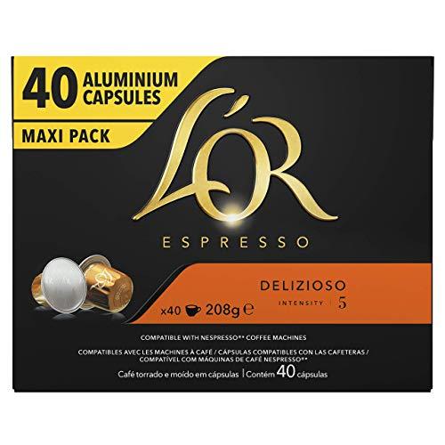 Paquet de 40 capsules de café L'Or Espresso Delizioso Intensité 5