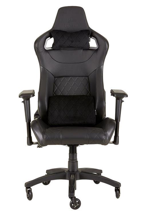 Chaise de bureau Corsair T1 Race - en similicuir, noir