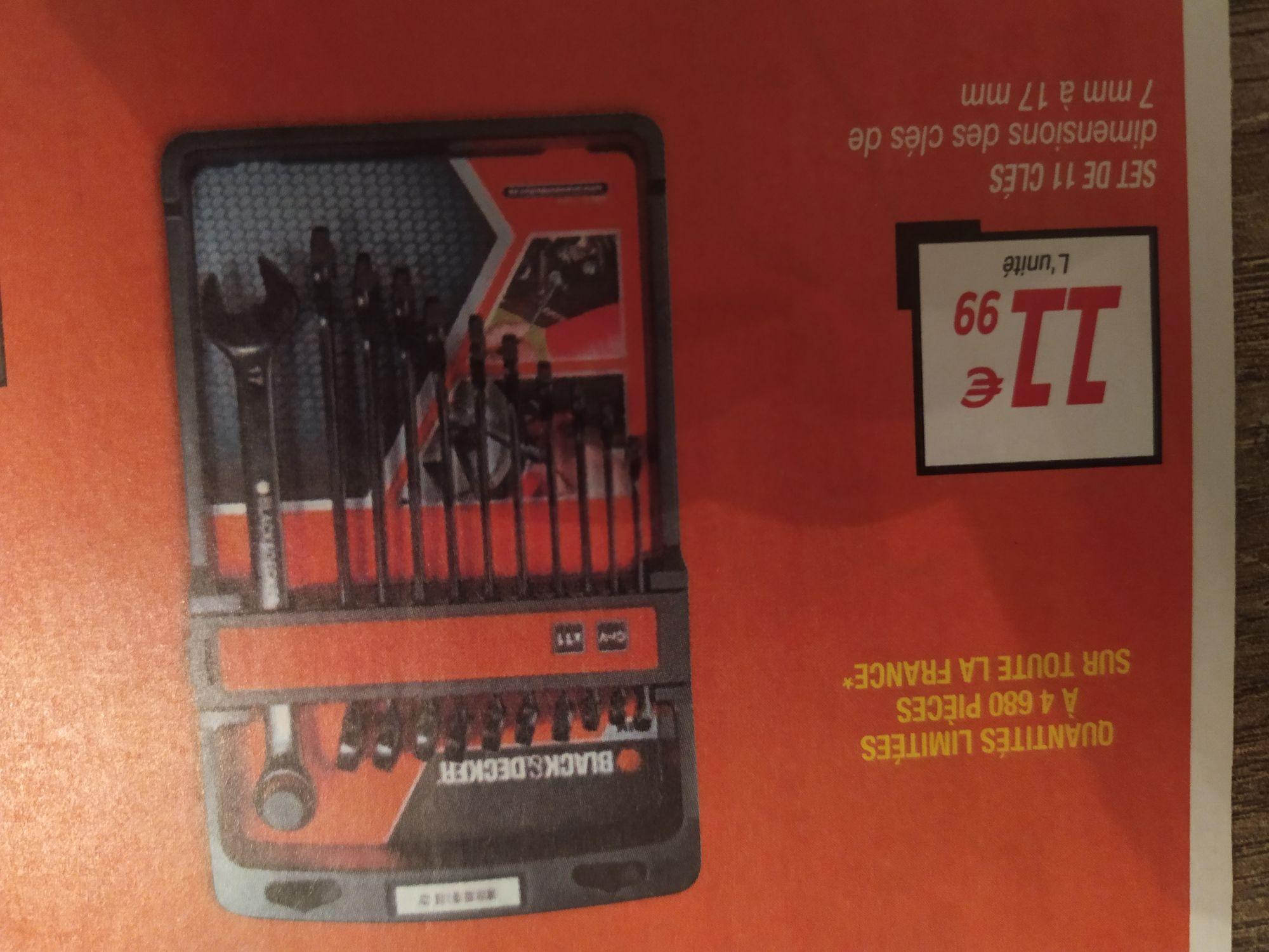 Set de 11 clés Black et Decker - 7mm à 17 mm