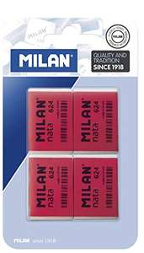 Lot de 4 gommes Milan Nata 624