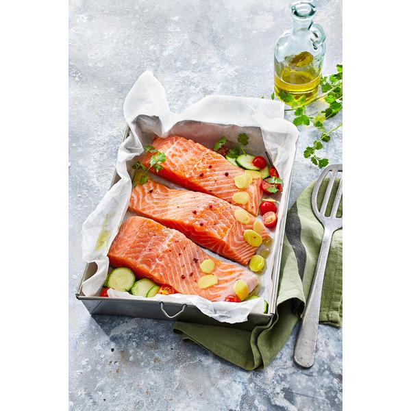 Pavé de saumon - élevé en Norvège ou Royaume-Uni, le kg