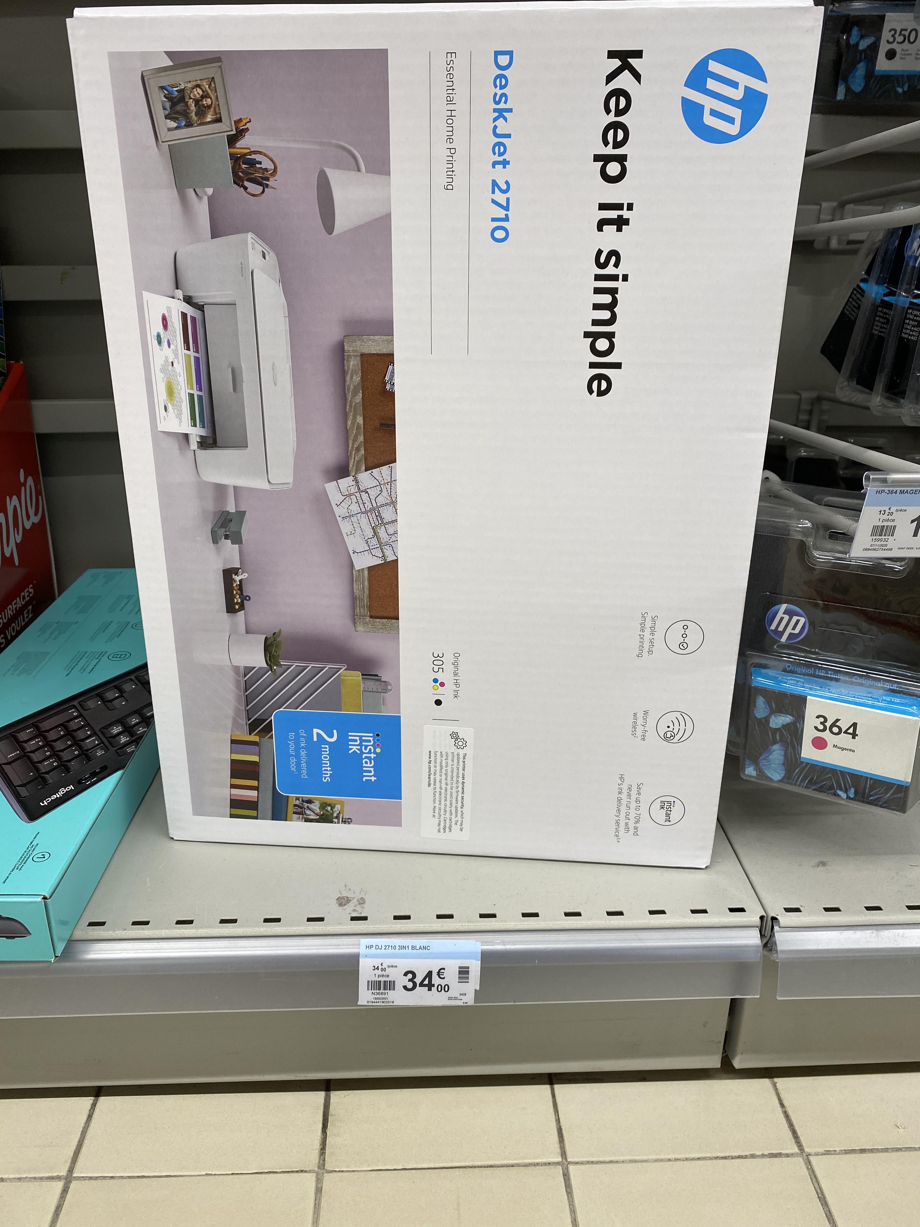 Imprimante WiFi HP DeskJet 2710 + Abonnement de 6 à 8 Mois à Instant Ink (Péronnas 01)