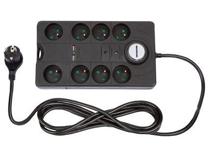 Multiprise parasurtenseur + 2 port USB (coloris au choix)