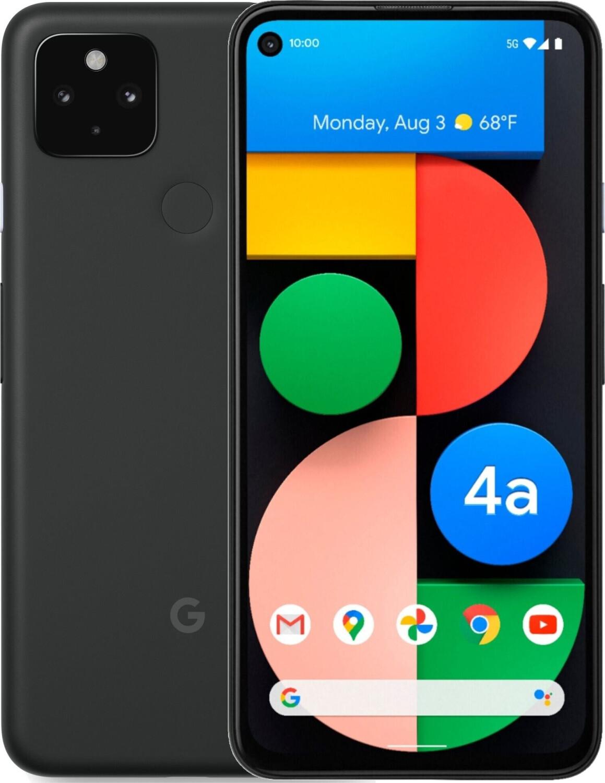 """Smartphone 6.2"""" Google Pixel 4a 5G (full HD+, SnapDragon 765G, 6 Go de RAM, 128 Go, noir) - Movertix.com"""