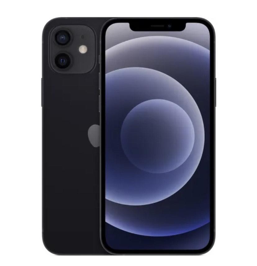 """Smartphone 6.1"""" Apple iPhone 12 - 64 Go, Noir (+23.67€ en Rakuten Points)"""