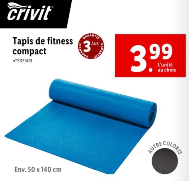 Tapis de fitness - 50x140cm