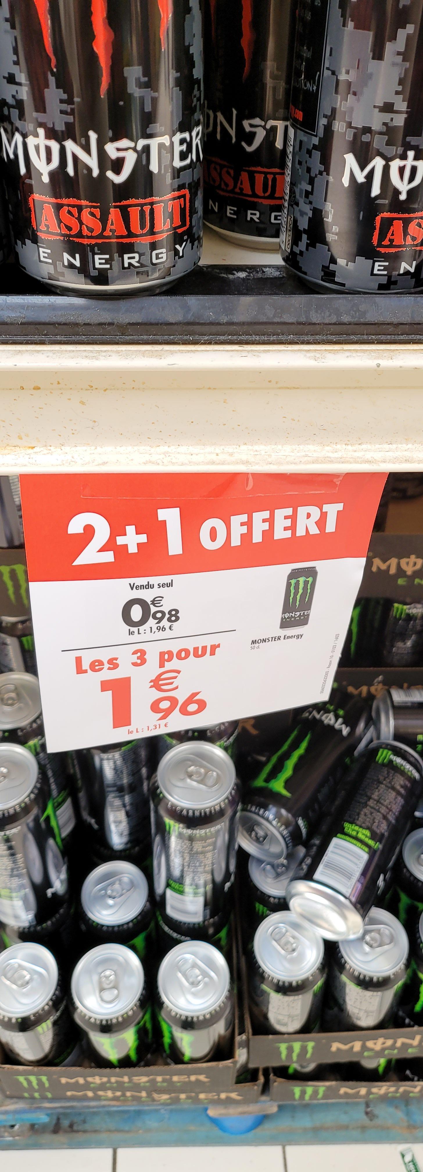 3 canettes de boisson énergétique Monster Energy 3 x 50cl - Bègles (33) / Mayol Toulon (83)