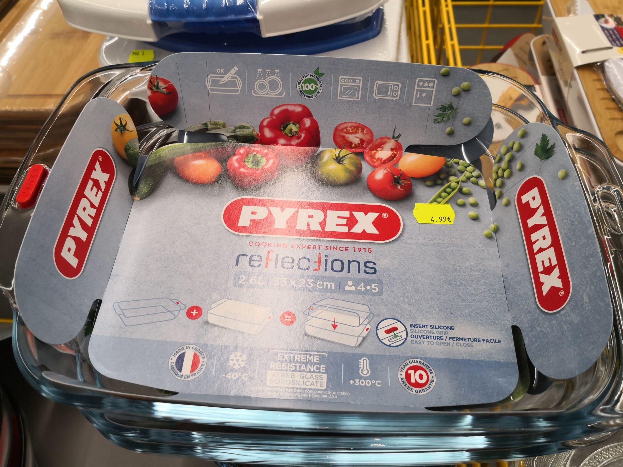 Plat Pyrex avec support 33x23cm