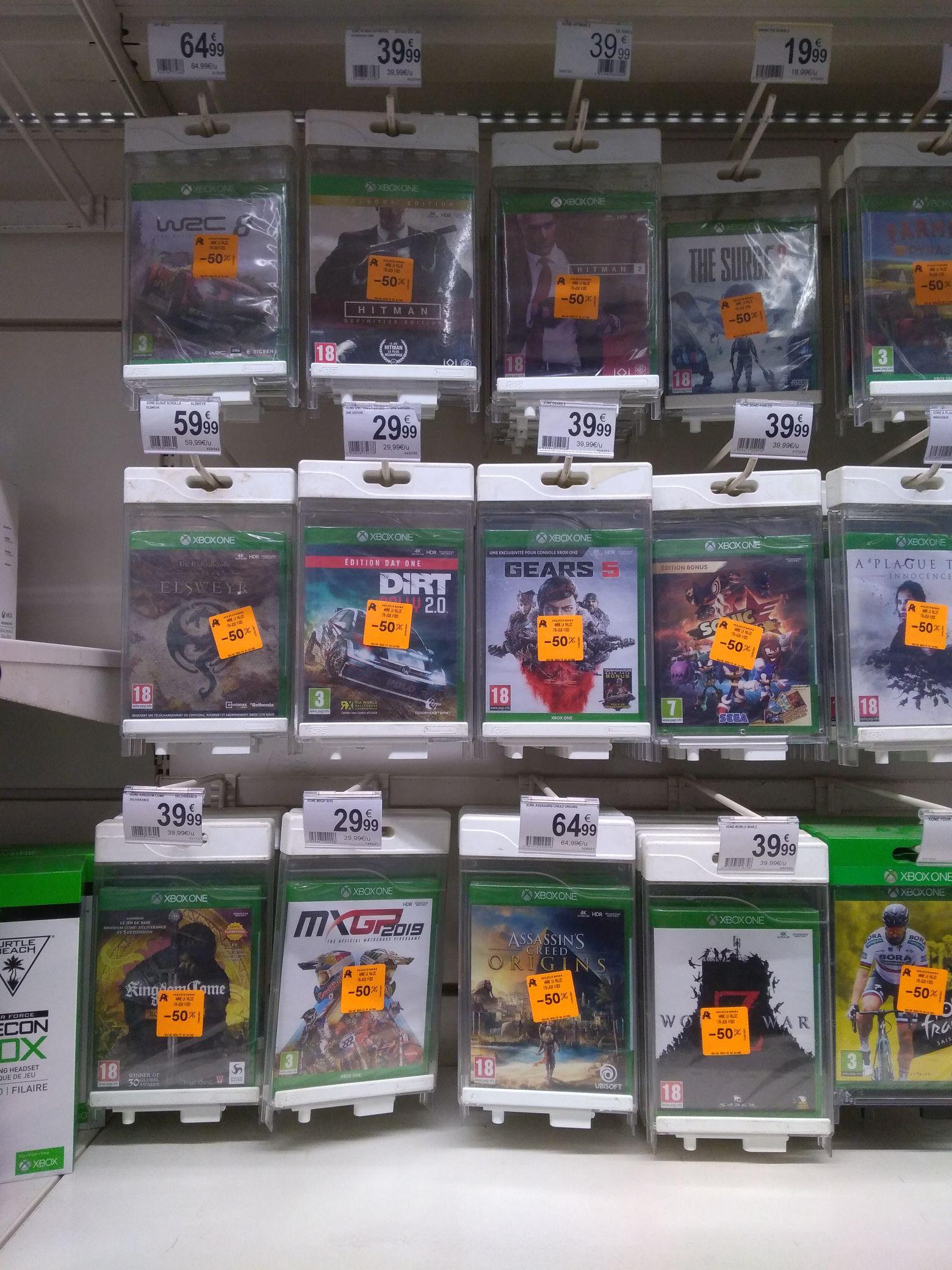 Sélection de jeux Xbox One en promotion - Marne-la-Vallée (77)