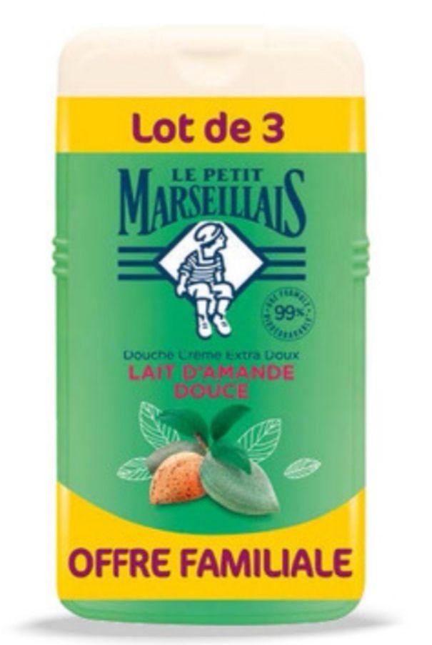 Lot de 3 gels douche Le Petit Marseillais 3x250ml (via 3.47€ sur la carte de fidélité)