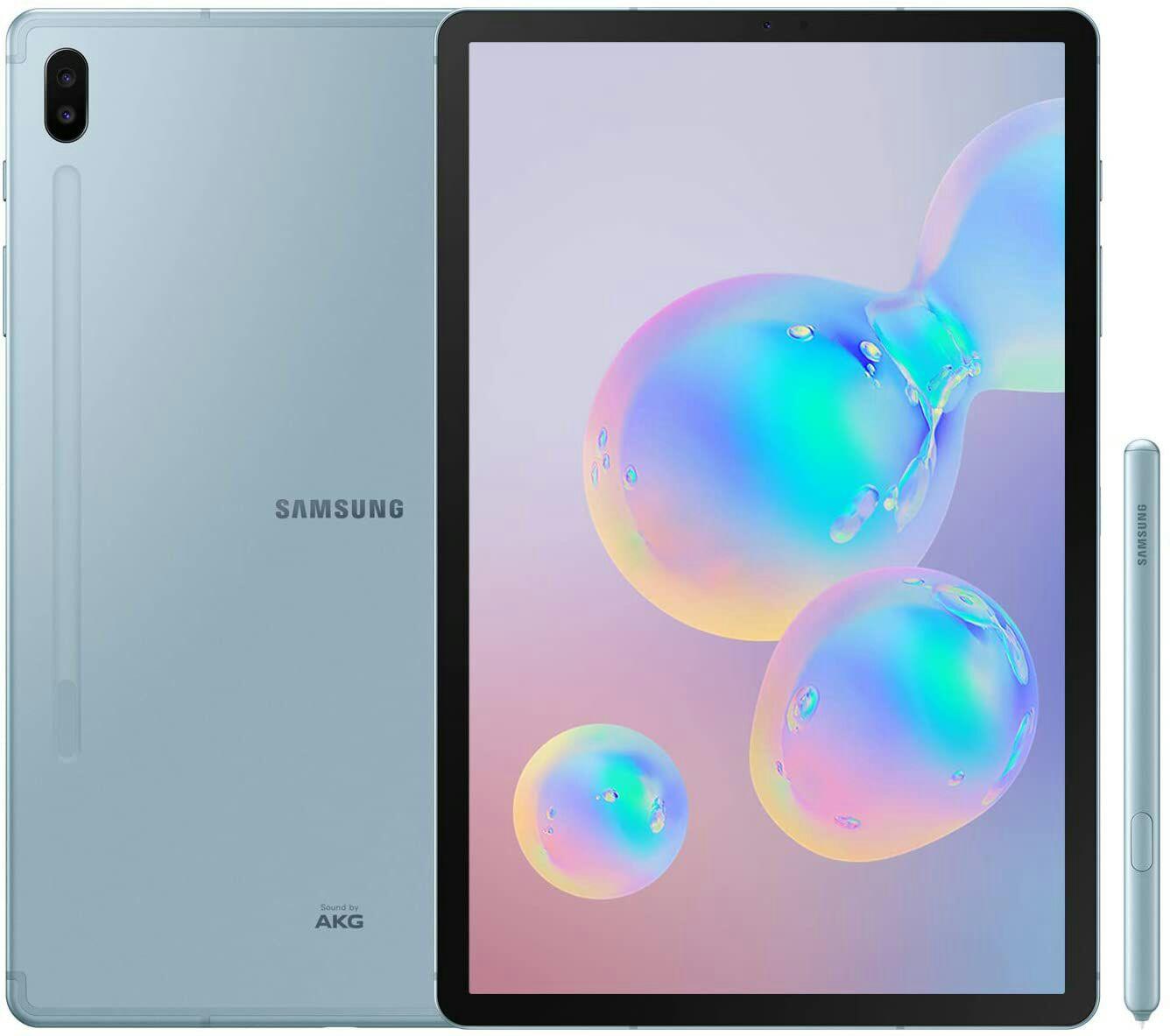 "Tablette 10.5"" Samsung Galaxy Tab S6 (4G) - sAMOLED, Qualcomm Snapdragon 855, 6 go de RAM, 128 Go Android 9 Pie"