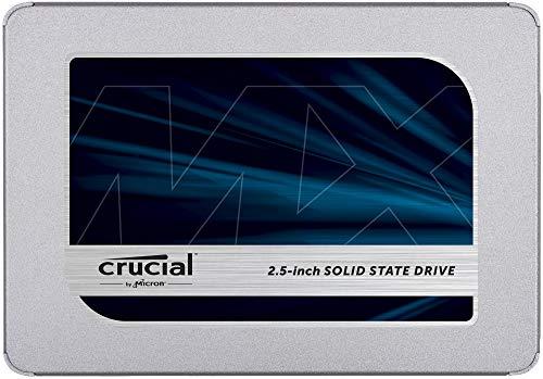 """SSD interne 2.5"""" Crucial MX500 (TLC 3D, DRAM) - 500 Go"""