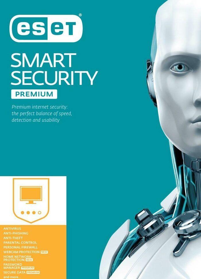 Anti-virus ESET Smart Security Premium 2020 - licence de 6 mois, 1 poste (dématérialisé)