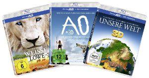 Coffret Blu-ray 3 films 3D : Le syndrome du Titanic, Ao le dernier Néandertal, Le Lion Blanc