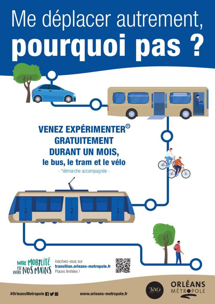 Transports en commun gratuits pendant 1 Mois en Métropole Orléanaise (45)