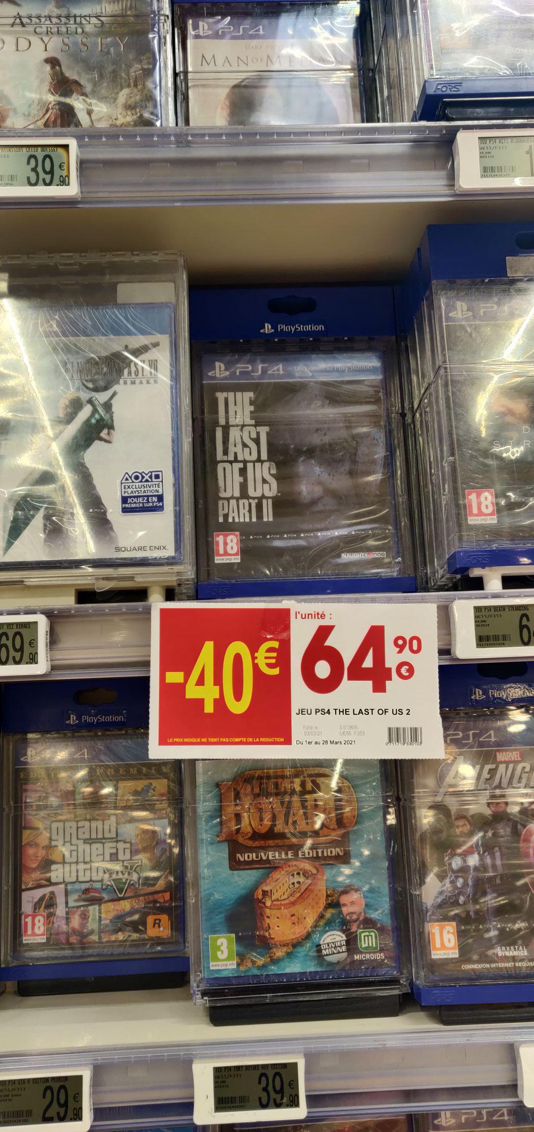 The Last of Us Part 2 sur PS4 (Monthieu 42 / Chenove 21 / Brest 29)