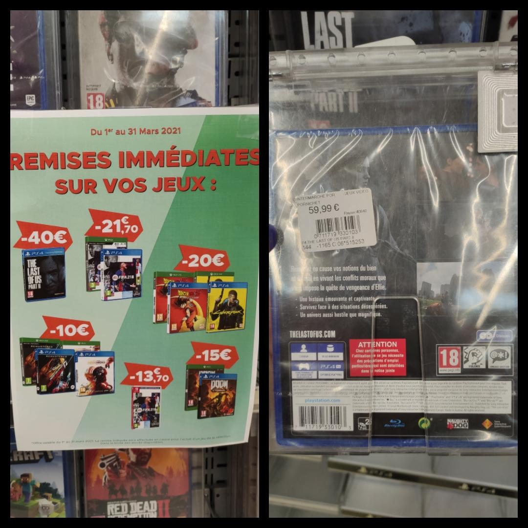 Sélection de jeux vidéo en promotion - Ex : The Last of Us part II sur PS4 - Pornichet (44)