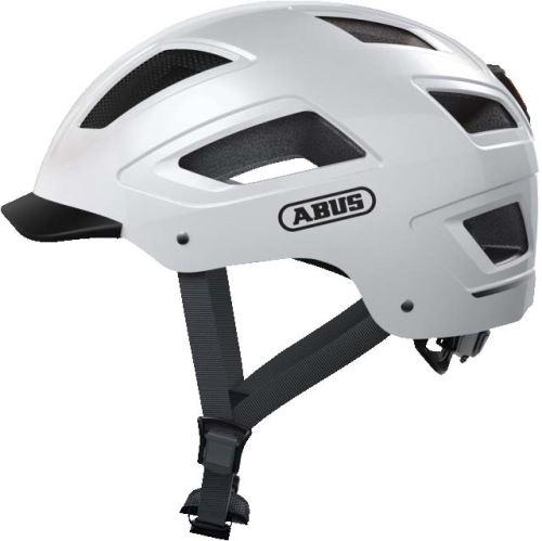 Casque de vélo ABUS Hyban 2.0 avec LED coloris Blanc Polaire (taille L - XL)