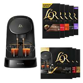 Machine à café l'Or Barista + 100 capsules