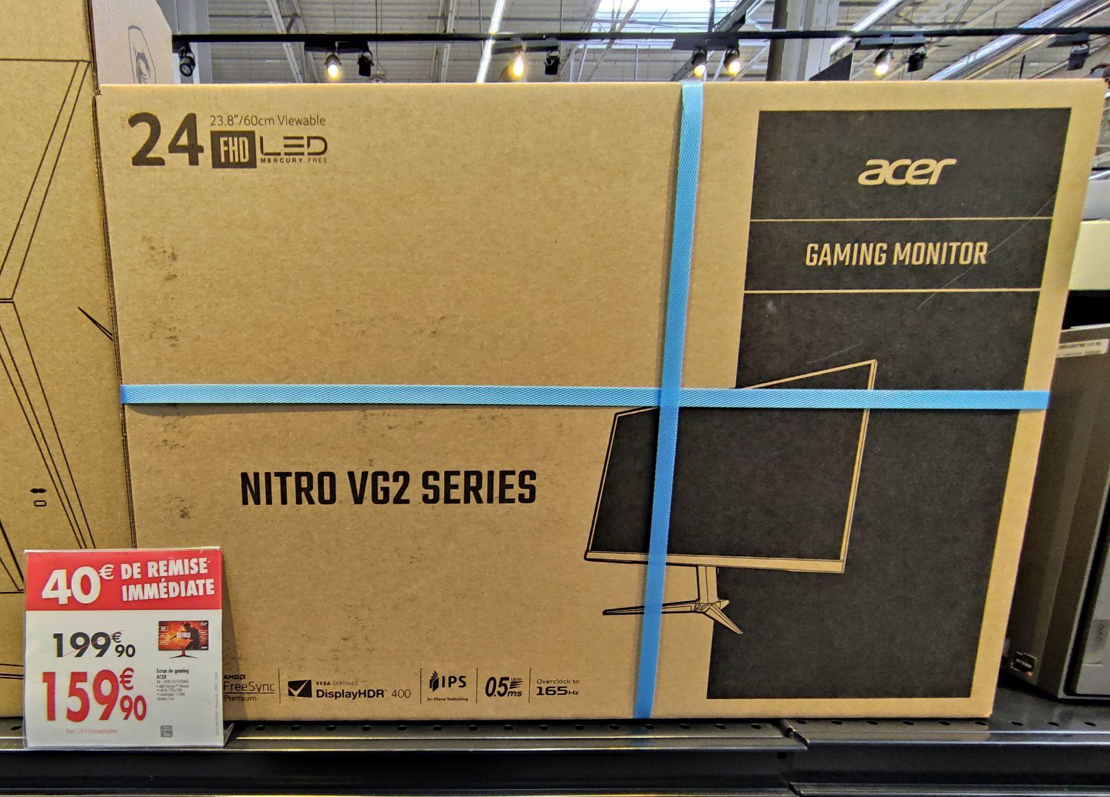 """Écran Acer 23.8"""" - FHD, IPS, 165hz, 0.5ms, FreeSync - Venette (60)"""