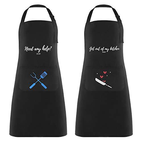 Lot de 2 tabliers de cuisine Lemecima : Homme + Femme (vendeur tiers)