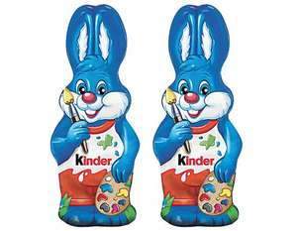 Sélection chocolat en promotion - Ex : Lot de 2 lapins en chocolat Kinder (110g)