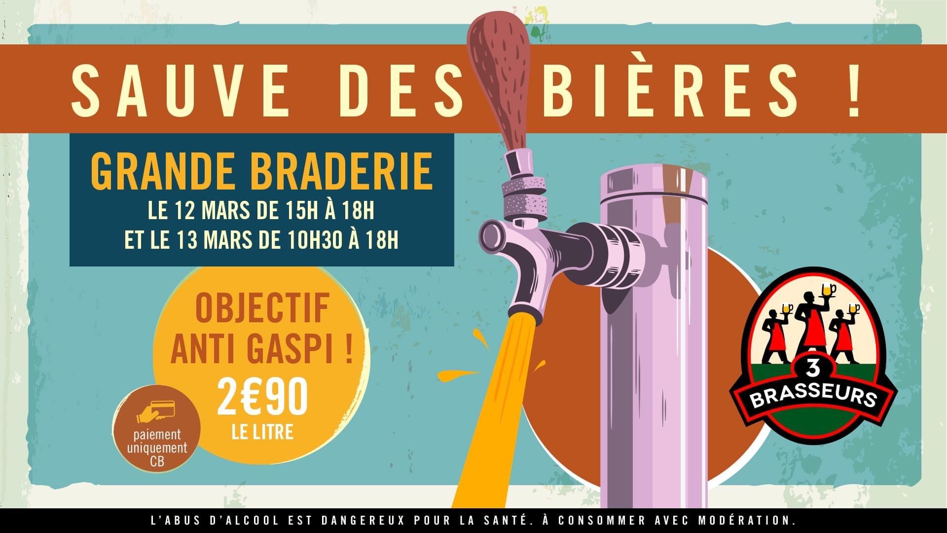 Bière brassée sans contenant (le L) - Les 3 Brasseurs