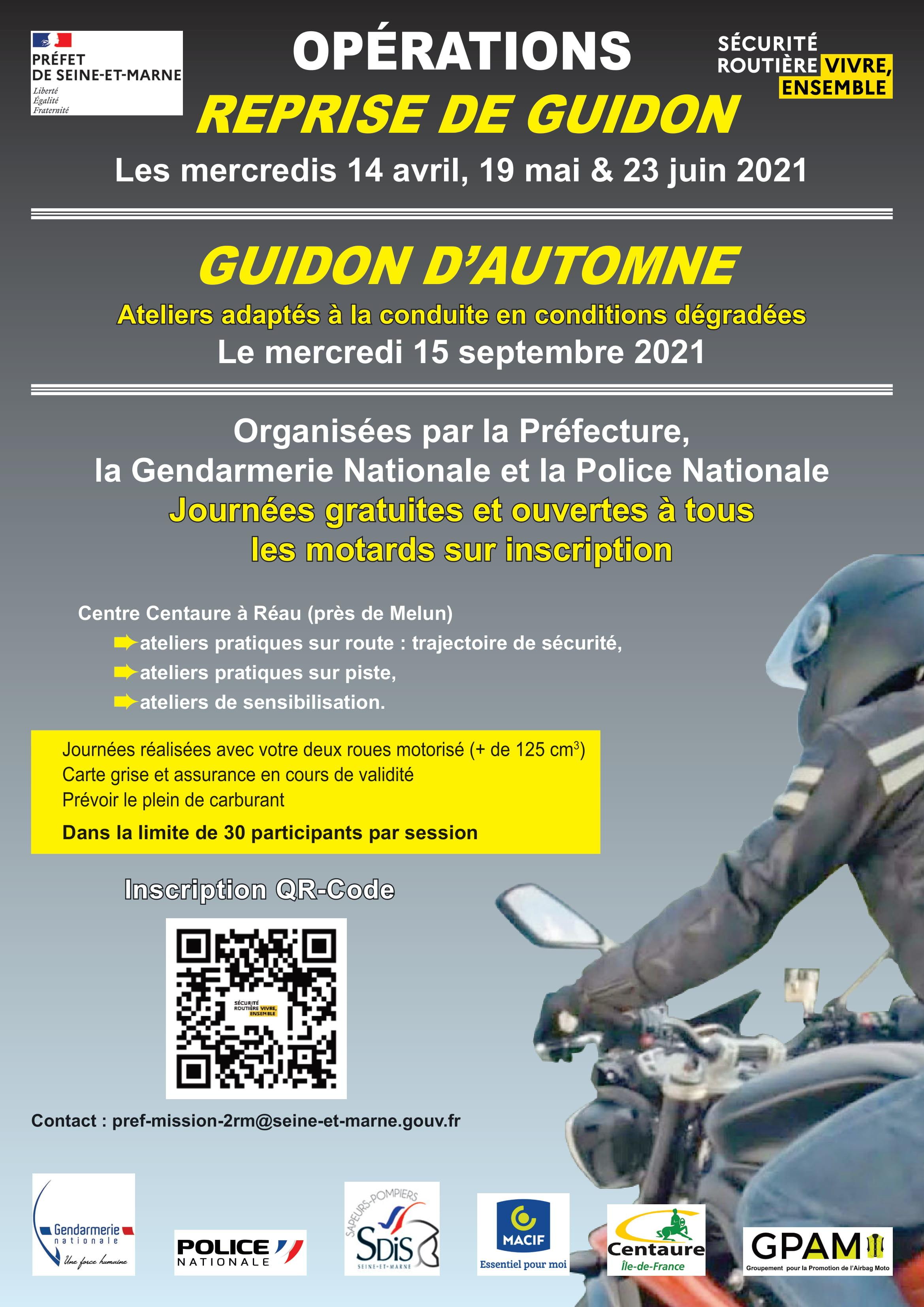 Opération Reprise de guidon 2021 : Conseils et ateliers gratuits - Réau (Seine et Marne - 77)