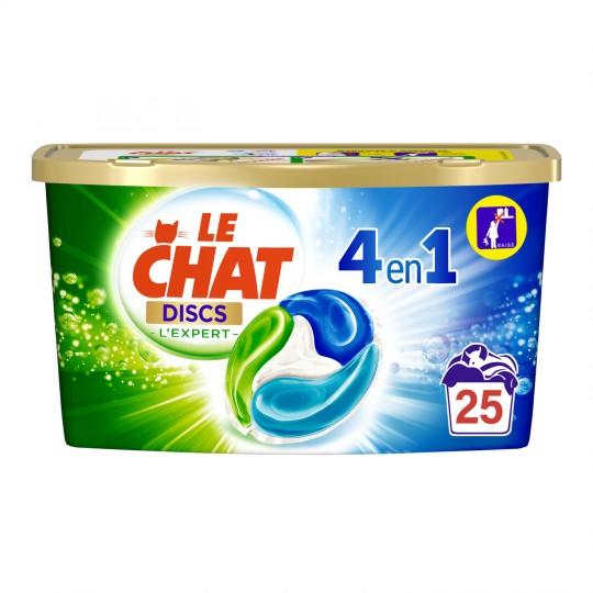Boite de 25 Capsules de Lessive Le Chat Discs L'expert 4 en 1 (Via 5,36€ sur Carte de Fidélité)