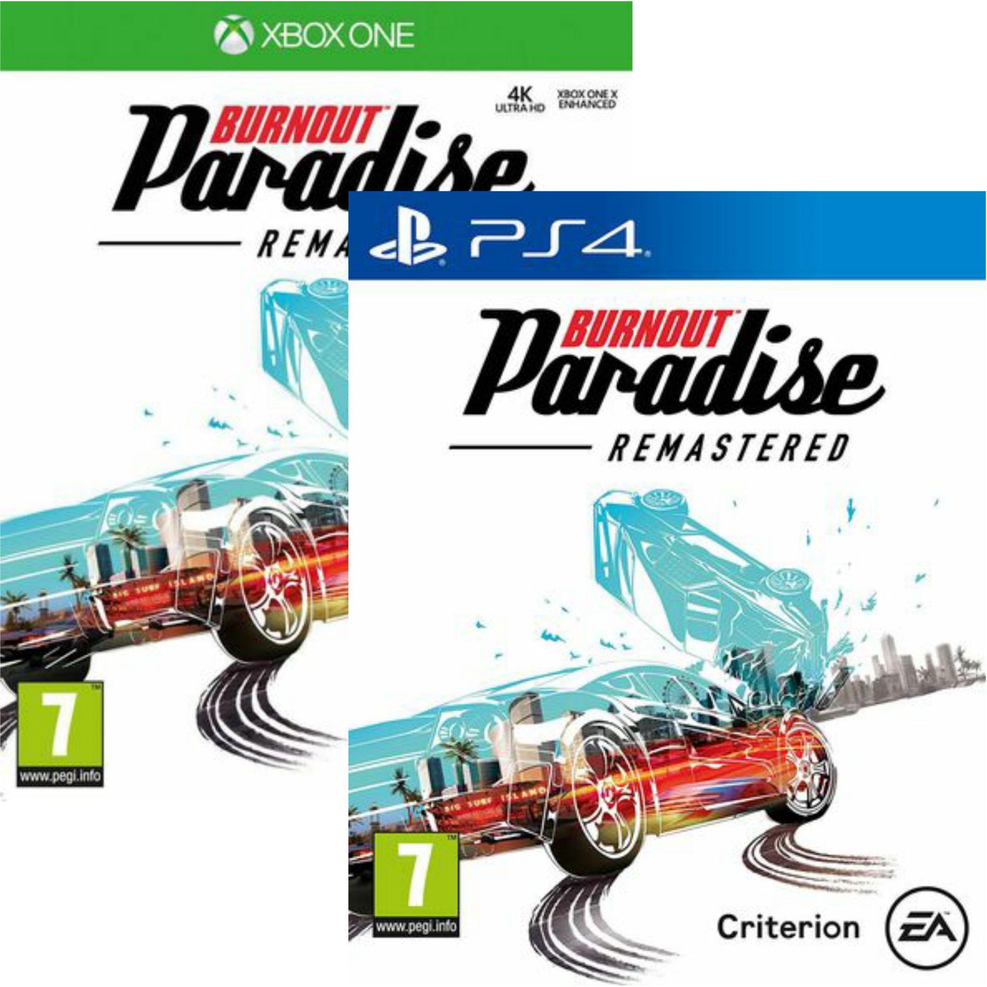 Jeu Burnout Paradise Remastered sur PS4 ou Xbox One