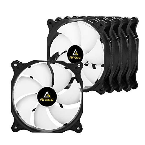 Pack de 5 Ventilateurs PC Antec PF12-5 120mm pour Boîtier PC D'ordinateur Ultra Silencieux