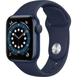 Montre connectée Apple Watch Series 6 (GPS) - 40 mm, Aluminium bleu avec Bracelet sport bleu marine