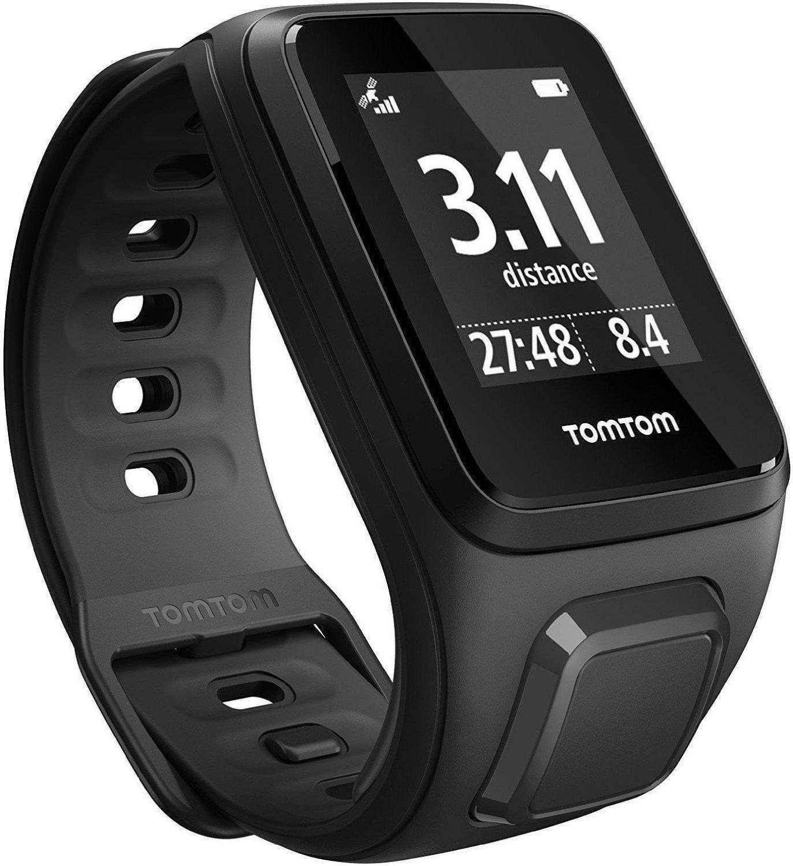 Montre GPS Tomtom Spark cardio - Noir, bracelet fin