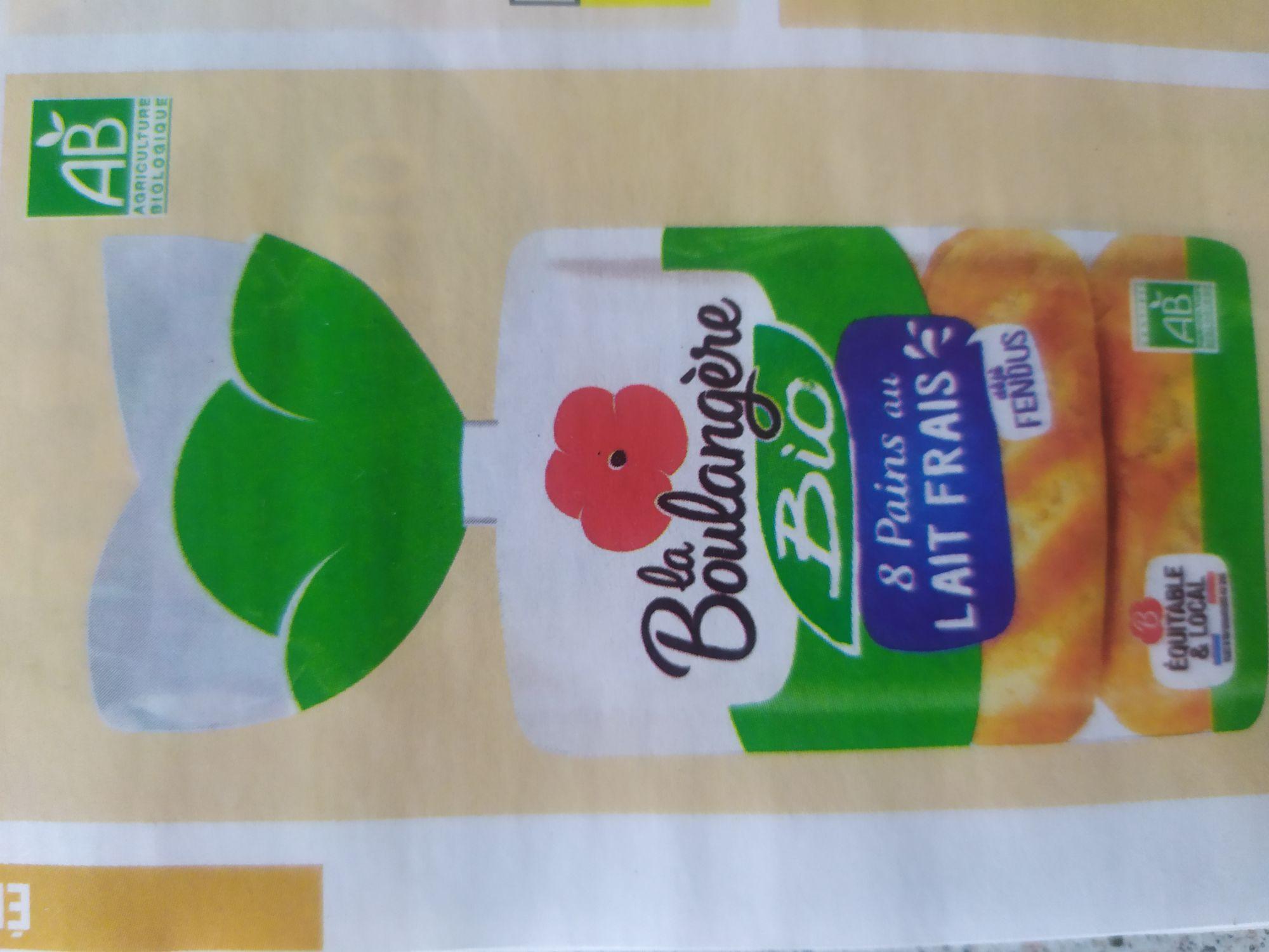 Paquet de 8 Pains au lait Bio La Boulangère
