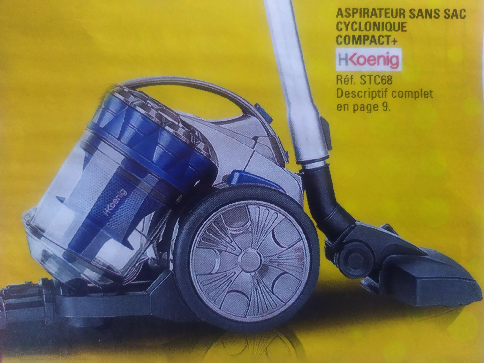 Aspirateur sans sac cyclonique H.Koenig Compact+ STC68