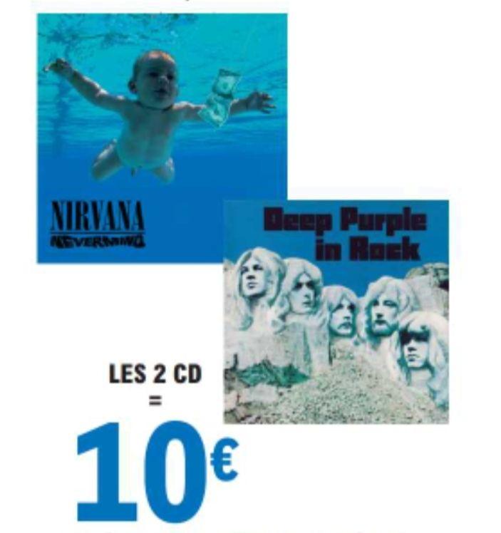 """2 CD au choix parmi une sélection """"Rock & Métal"""" pour 10€"""