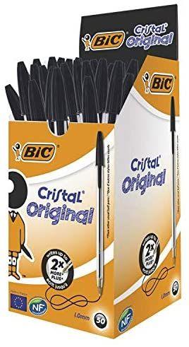 Lot de 50 stylos Bic Cristal Original - Noir