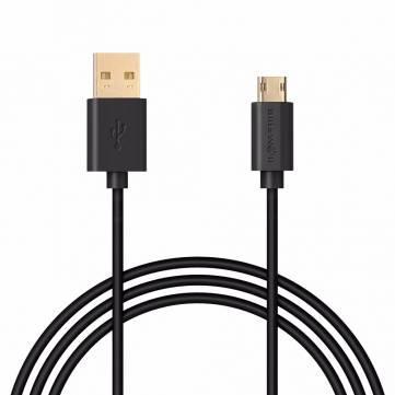 Câble BlitzWolf - MicroUSB vers USB Réversible/doré - 1 Mètre