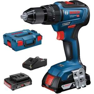 Perceuse-Visseuse à percussion Brushless Bosch Professional GSB18V-55 18V + 2 batteries 2 Ah + chargeur + Lboxx