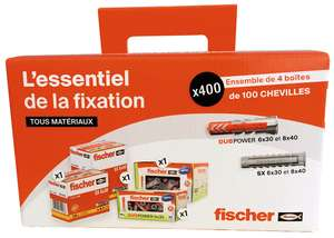 Lot 400 chevilles Fischer SX Duopower