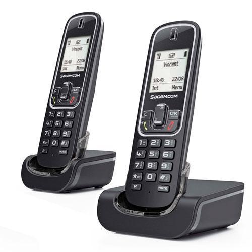Téléphone fixe sans fil Sagemcom D382 duo
