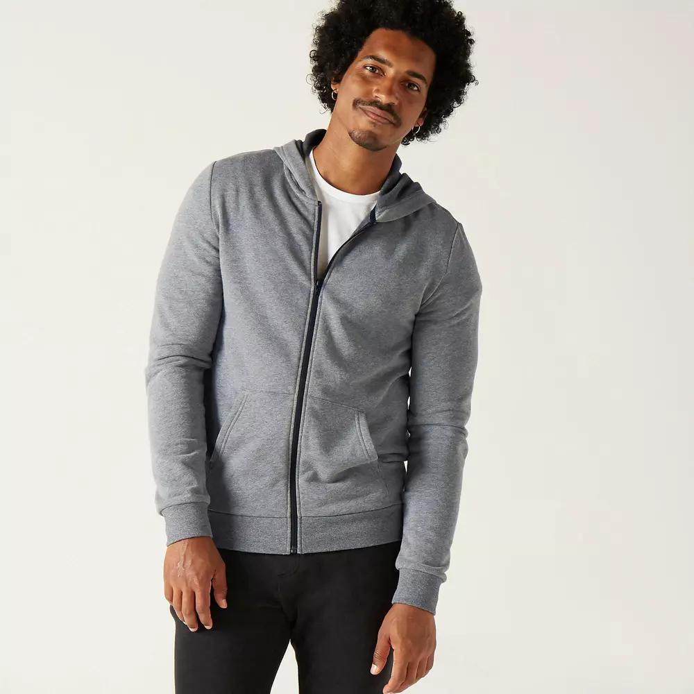 Veste à capuche Domyos 100 pour Homme - Gris, Tailles XL à 4XL